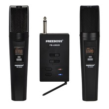 FREEBOSS micrófono inalámbrico FB U9020 2 vías, 2x30, frecuencia ajustable, 2, para fiesta, iglesia, escuela, Dj y Karaoke