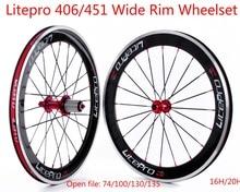 Litepro S42 BMX ancho llantas de ruedas de 20 pulgadas 451 juego de ruedas plegable ruedas de bicicleta bici BMX piezas