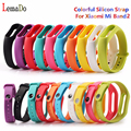 Lemado Colorful Silicone Strap For Xiaomi Mi Band 2 Smart Wristband Replacement Strap For Xiaomi Band 2