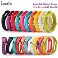 Lemado pulseira de silicone colorido para xiaomi mi banda 2 banda inteligente pulseira correia de substituição para xiaomi 2