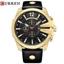 Transporte da gota Top Marca de Luxo Relogio masculino Relógios Homens CURREN Relógio Homem De Quartzo Relógios de Ouro Homens Relógio Relógio dos homens 8176