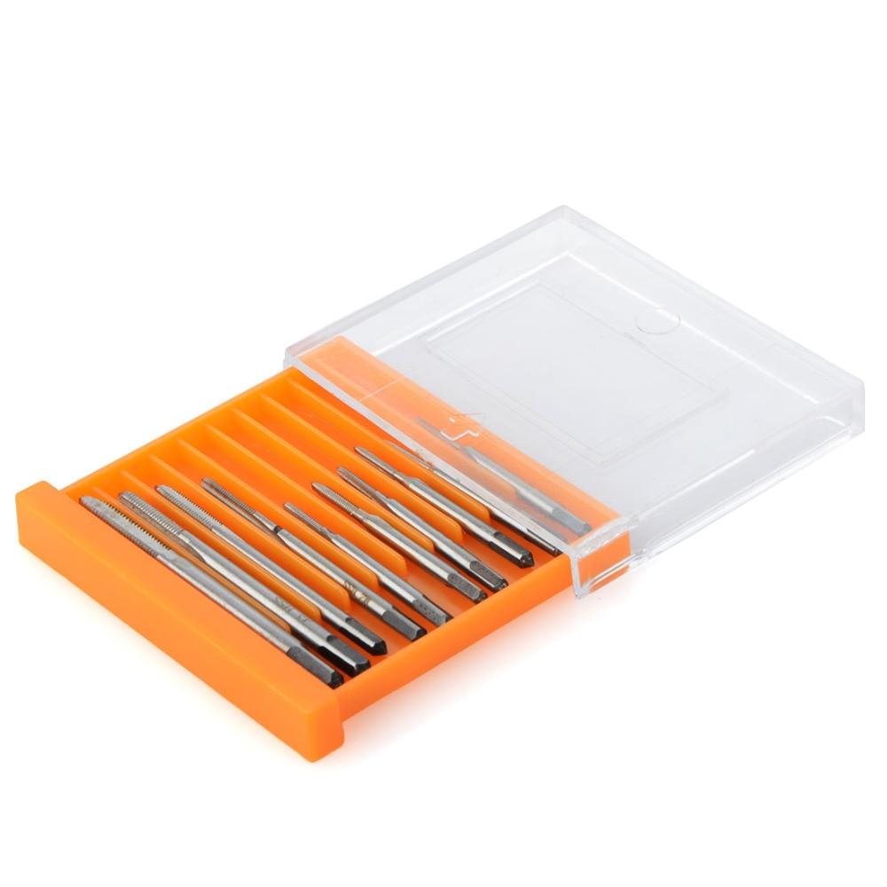 цена на 10Pcs Mini Metric Tap Hand Screw Thread Metric Plug Taps Screwdriver Drill Bit Se