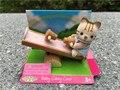 Sylvanian famílias cat gangorra action figure brinquedos meninas novo