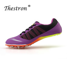 Thestron Couples Track and Field Shoes Athletics Woman Spring Summer Lightweight Male Running Nails Sneakers Green Spikes Shoe отсутствует track and field athletics легкая атлетика учебное пособие