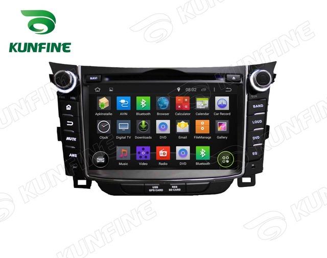 Quad Core 1024*600 Android 5.1 Car DVD Player de Navegação GPS Som Do Carro para Hyundai I30 2011-2014 Wi-fi de rádio Bluetooth