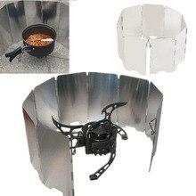 Профессиональная Складная мини 9 тарелок плита газовая плита для барбекю экран ветер экран для пикника Открытый Кемпинг ветер экран горячая распродажа