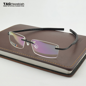 Image 2 - 2019 Frameless Eyeglasses Brand TAG Hezekiah Myopia Glasses Frame for Man and Woman TH0341 eye glasses oculos de grau eyewear