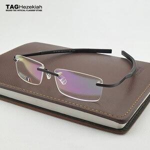 Image 2 - 2019 Frameless แว่นตายี่ห้อ: เฮเซคียาห์สายตาสั้นกรอบแว่นตาสำหรับ Man และผู้หญิง TH0341 แว่นตา oculos de grau แว่นตา