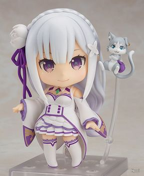 Anime Re : Life in a different world from zero Nendoroid 751 Emilia Kawaii Cute Action Figure Toys 10cm
