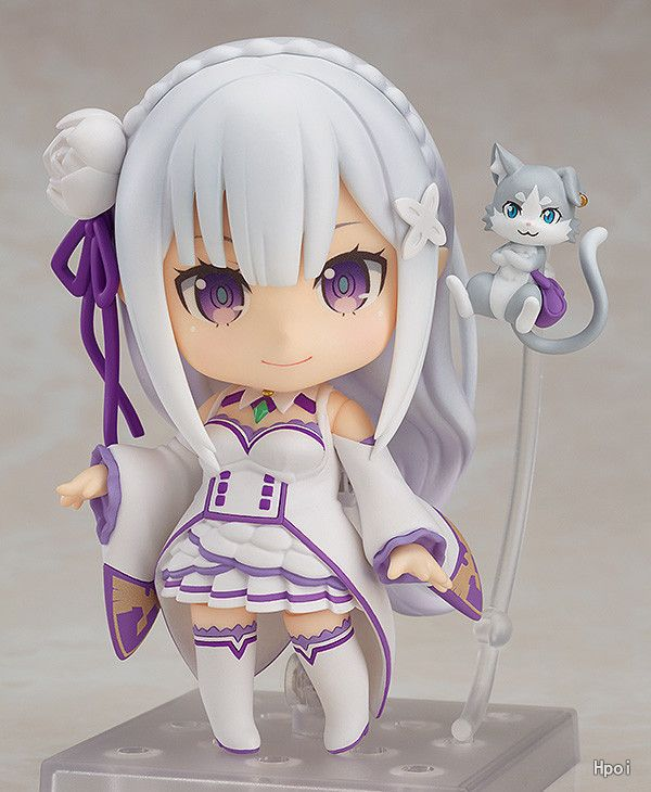Anime Re : Life in a different world from zero Nendoroid 751 Emilia Kawaii Cute Action Figure Toys 10cm great re life in a different world from