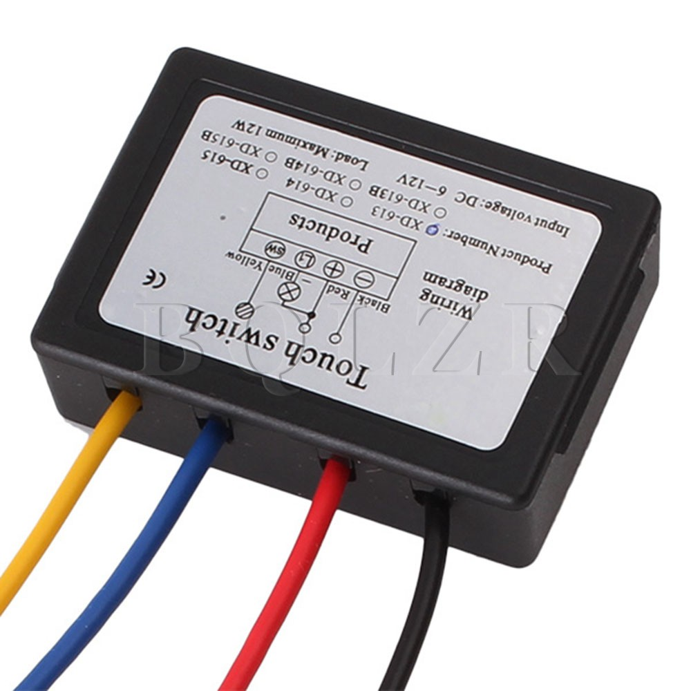 Bqlzr On Off Touch Switch With Surge Absorber 6 12v Dc For Led Lamp Circuit Wiring Diagram Set Of 10 In Switches From Lights Lighting Alibaba Group