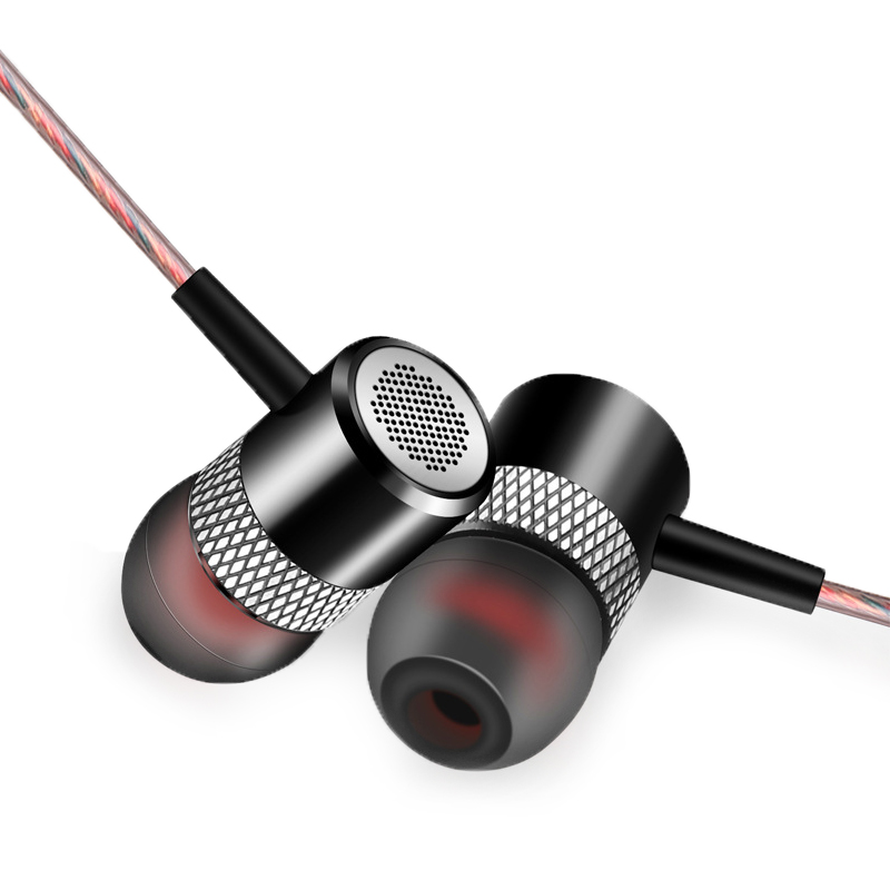In-ear Earphone HIFI Stereo Earbuds Super Bass 3.5mm Subwoofer Earphones With Mic Headset For Moblie Phone easyidea in ear earphone for phone metal super bass hifi stereo sound music earbuds headsets with microphone subwoofer earphones