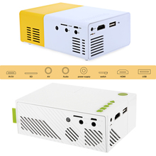 Portable Lightweight Yellow LED Projector with RC