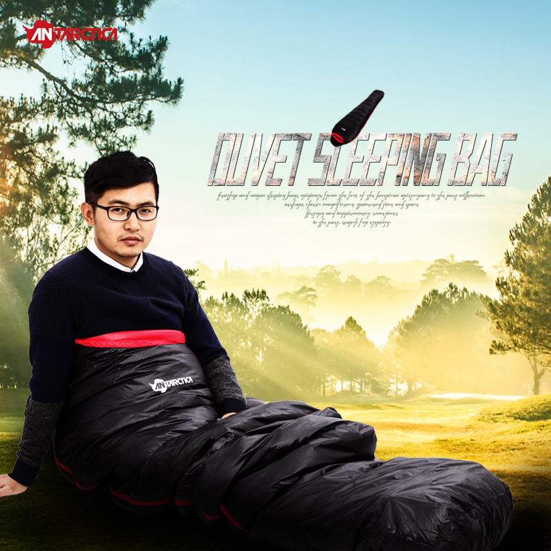 ANTARCTICA New Outdoor Sports Duck Down Autumn Sleeping Bag Mummy And Envelope Comfortably Sleeping Bag 210*75cm
