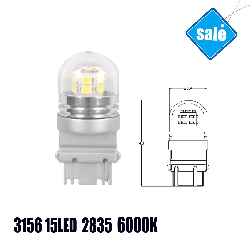3156 LED Automobiles Reverse Lights External Lights Cars LED Bulbs High Quality Factory 15SMD W3X16Q 6000K White LED Lamp