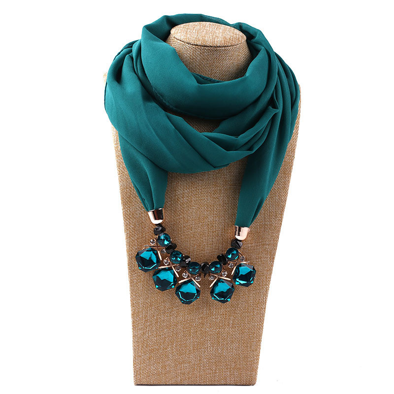 HTB10Mr7LNTpK1RjSZFKq6y2wXXan - RUNMEIFA Multi-style Jewelry Statement Necklace Pendant Scarf Women Bohemia Neckerchief Foulard Femme Accessories Hijab Stores