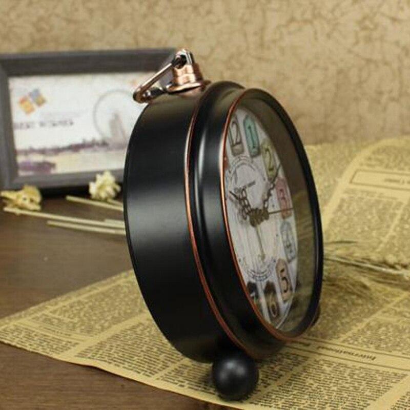 High Grade Vintage Alarm Clock Study Room Desk Table Clock Antique Bedside Wake Up Clock Metal Loud Alarm Desk Clock For Kids