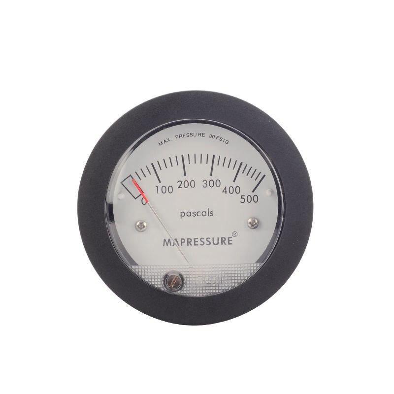 TE5000 Aria Manometro Differenziale Mini Formato di facile Montaggio Puntatore Pressione Nominale 0-500 PA