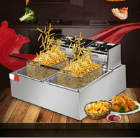 Electric Deep Fryers Fry Frying Pan Commercial Electric Blast Furnace Deep French Fries Potato Chip