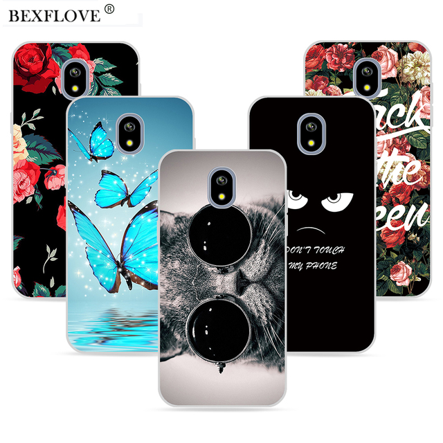 sale retailer 8ebf8 d649a US $4.32 |For Samsung Galaxy J7 2017 Case For Samsung Galaxy J6 2018 Case  J4 2018 Flower Cat Case For Samsung J7 J5 J3 Pro Europe Version -in Fitted  ...