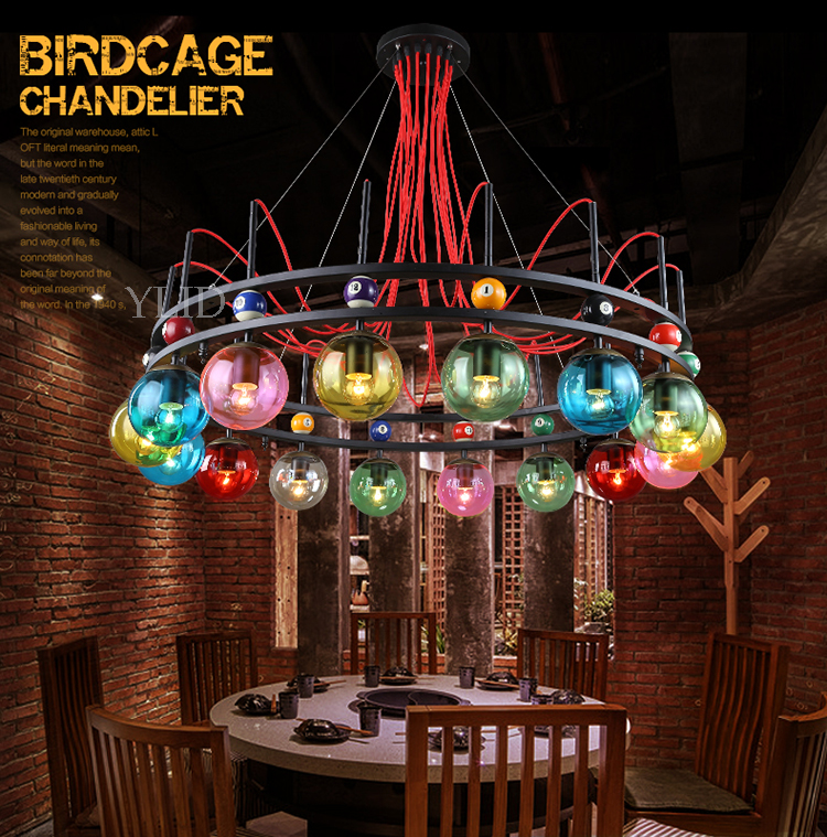 Us 418 0 Wind Pendant Lamp Magic Bean Creative Clothing Cyber Cafe Bar Theme Coffee Color Light Za428437 In