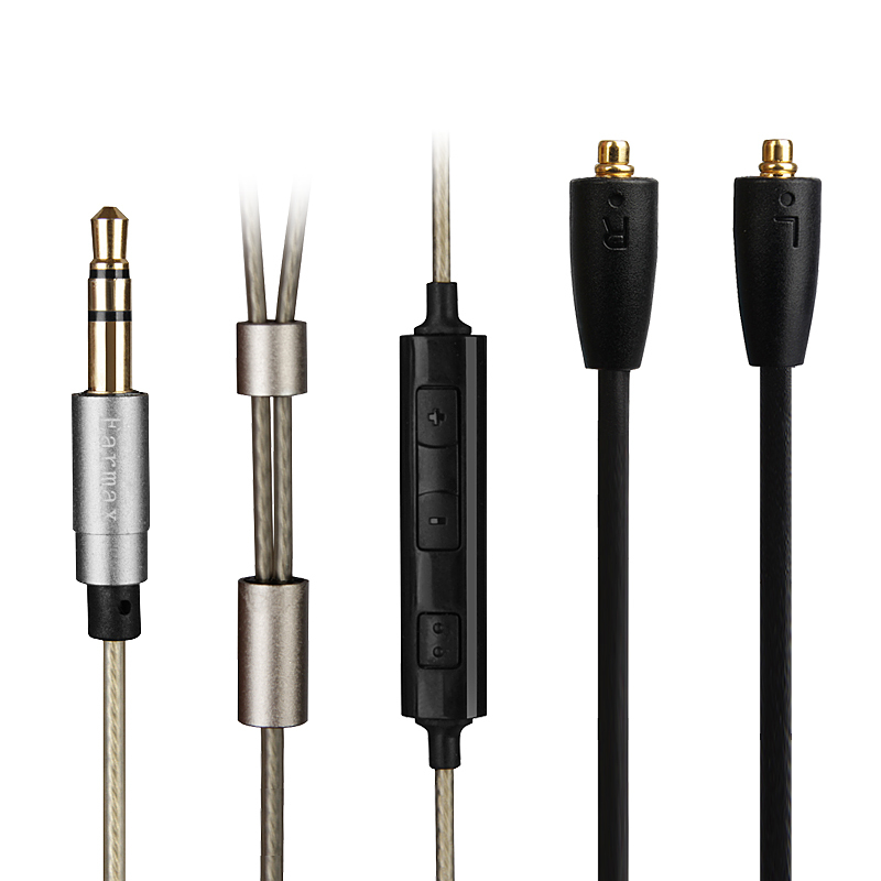 microphone jack wiring promotion shop for promotional microphone earmax silver plated earphone cable remote microphone replace wire for shure se215 se315 se425 se535 se846 ue900