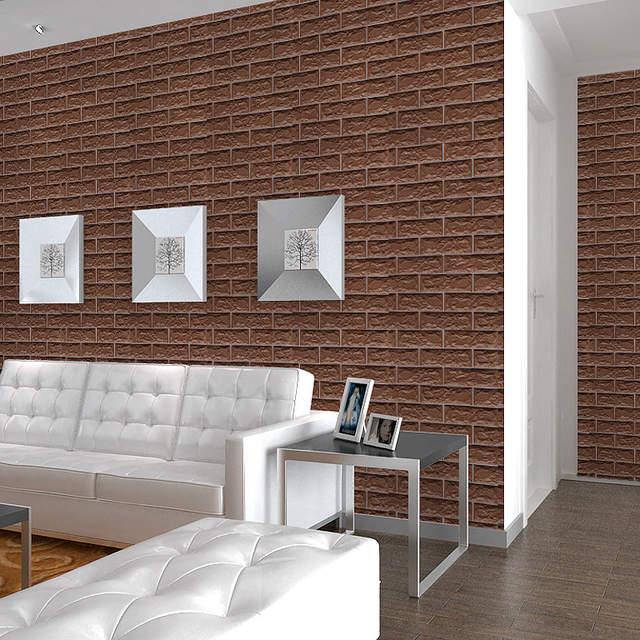 US $3.79 5% OFF|Badezimmer Tapete PVC Selbst adhesive Vinyl Rollen Vintage  Wasserdichte Wand Papier Home Decor Wohnzimmer Küche Wände Wandmalereien-in  ...