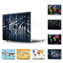 Colourful Map Pattern Hard Laptop Case for MacBook Air Pro Retina 11 12 13 15 Cover for Macbook A1707 A1706 A1708 Touch Bar Case new laptop case for apple macbook air pro retina 11 12 13 13 3 15 15 4 inch with touch bar 2017 a1706 a1707 a1708 keyboard cover