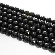 Baihande Natural 64 Facet Black Onyx Agate Stone 4 6 8 10 12mm AAA Round Gemstone Loose Beads For Bracelet DIY Jewelry Making