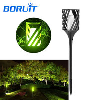 BORUIT Solar Powered LED Flickering Light Lawn Flame Lamp Fire Torch Outdoor Garden Lighting with Ground Stake IP65 Waterproof