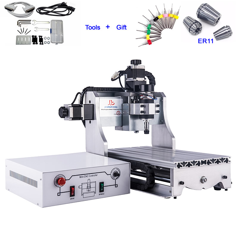 Small CNC Milling Machine 3020 Engraving Machine China CNC Router Cutter 300W Spindle