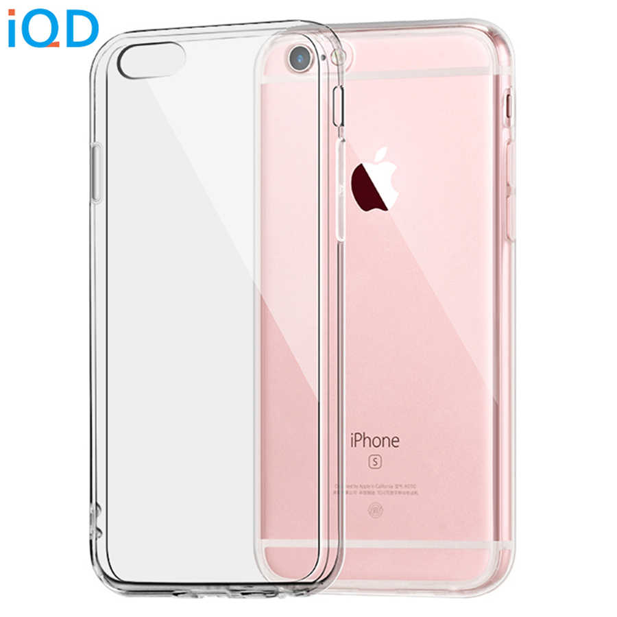 IQD For Apple iPhone x 6 6s 7 8 Plus Case Clear TPU Cover Slim Crystal Silicone Protective Transparent Fitted Cases Hard XS Max