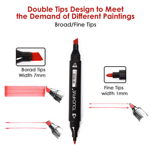 Image 2 - TOUCHNEW 80 Color Animation Marker Pen Set Drawing Sketch Markers Dulal Tips Alcohol Based Black Body Art Supplies With 5 Gifts