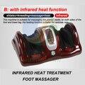 8802 - 2 elétrico amassar / rolamento / shiatsu / infravermelho tratamento térmico máquina de massagem nos pés