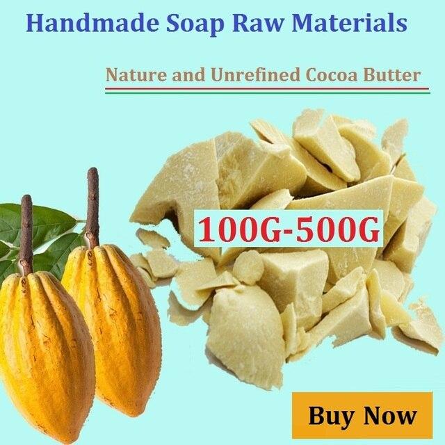 100 Г-500 Г Унций Сырого Нерафинированного Какао-масло Природные ОРГАНИЧЕСКИЕ 2017 Чистого Какао-масло