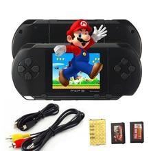 PXP3 Jeu Joueurs Console 16 Bits 2.7 Pouce Portable De Poche Vidéo Jeu Rétro Megadrive 150 + Jeux avec 2 pcs Carte de jeu