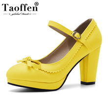 Taoffen 2019 New Spring 14 Colors Party Pumps Bowknot Wedding Party High Heel