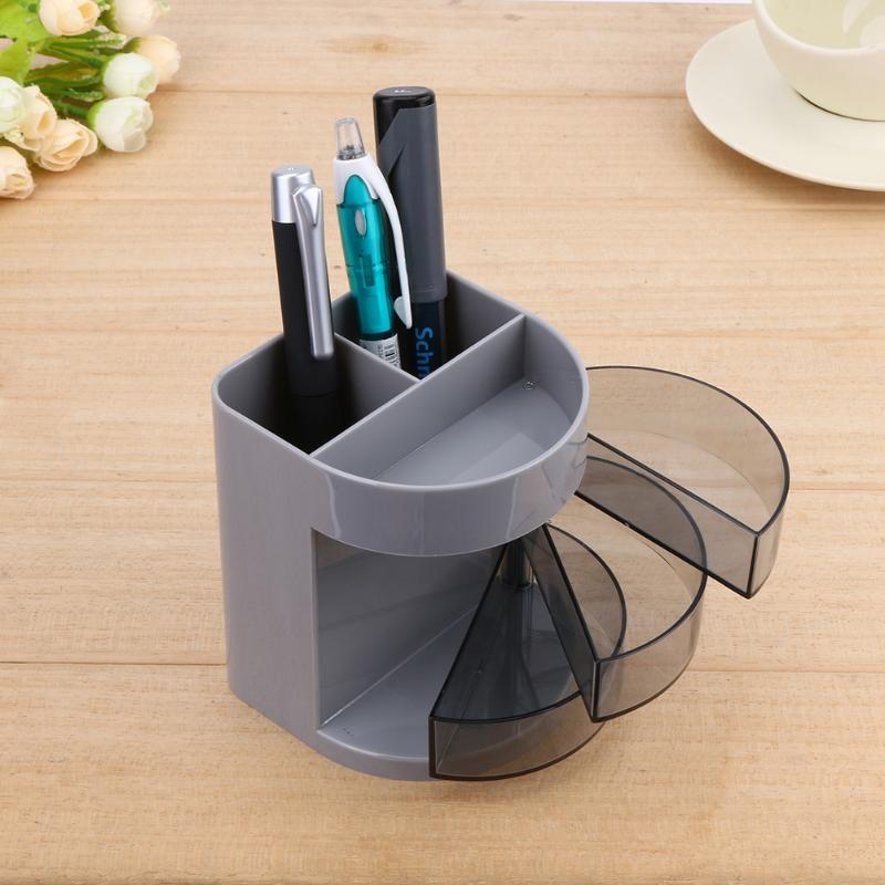 Office Home Pen Holder Desk Organizer Stand Round Pencil Storage Stationery Container School Spplies Accessories For Officework