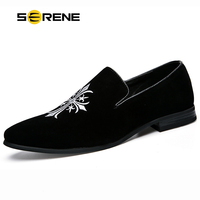 SERENE Brand High Quality Crucifixion Suede Loafers Leisure OxFord Top Black Boat Breathable Slip On Hot