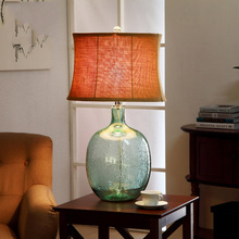 Buy table lamp glass bubble and get free shipping on aliexpress serrickdon modern blue bubble table lamp 110v 220v luxury bedroom bedside lamp glass aloadofball Gallery
