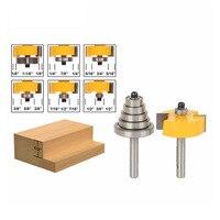 Binoax 1 4 Shank Rabbet Router Bit With 6 Bearings Set 1 2 H Woodworking Cutter