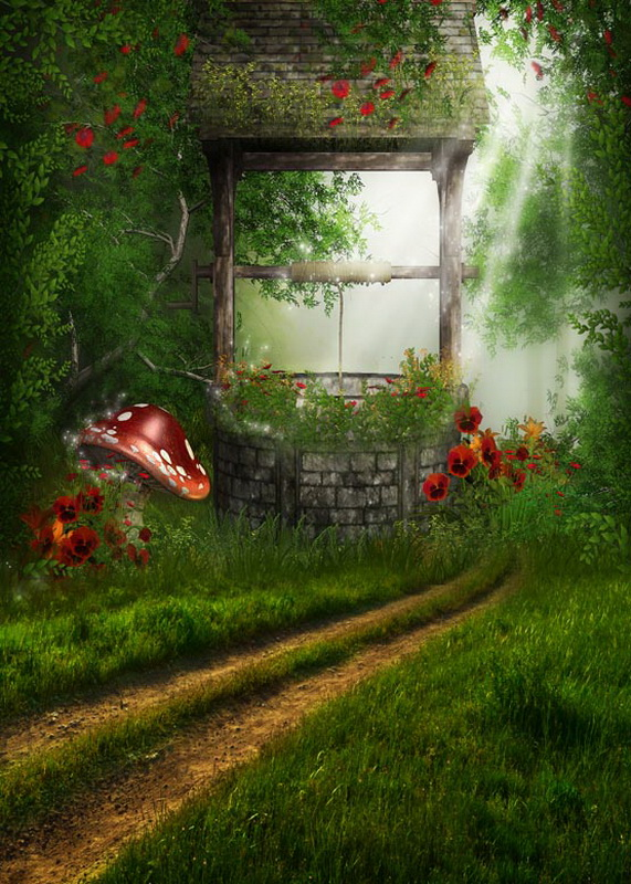 Old well in woods photo background wonderland photography backdrops for photo studio photography background camera fotografica