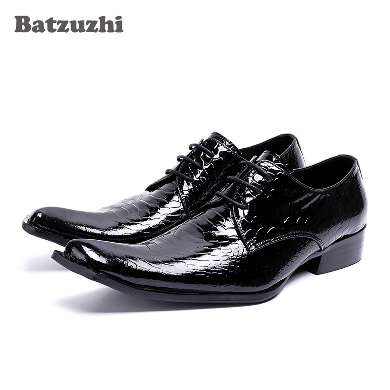 Handmade Fashion Mens Shoes Dress Genuine Leather Black Business Men Shoes 2018 Lace-up Oxfords Zapatos Hombre Wedding, US12 ...