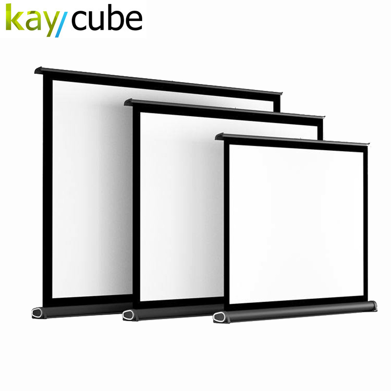 40Inch 50 Inch 16:9 White Glass Curtain Pull Up Standing Projector Screen Portable Floor Stand Screen For Led Hd Mini Projector fast free shipping 100 4 3 tripod portable projection screen hd floor stand bracket projector screen matt white factory supply