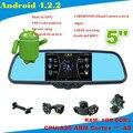 Orignal кронштейн двойная камера android-4.2.2 автомобильный GPS автомобильный видеорегистратор зеркало заднего вида HD ночного видения reversin камеры MP5 wifi-радио