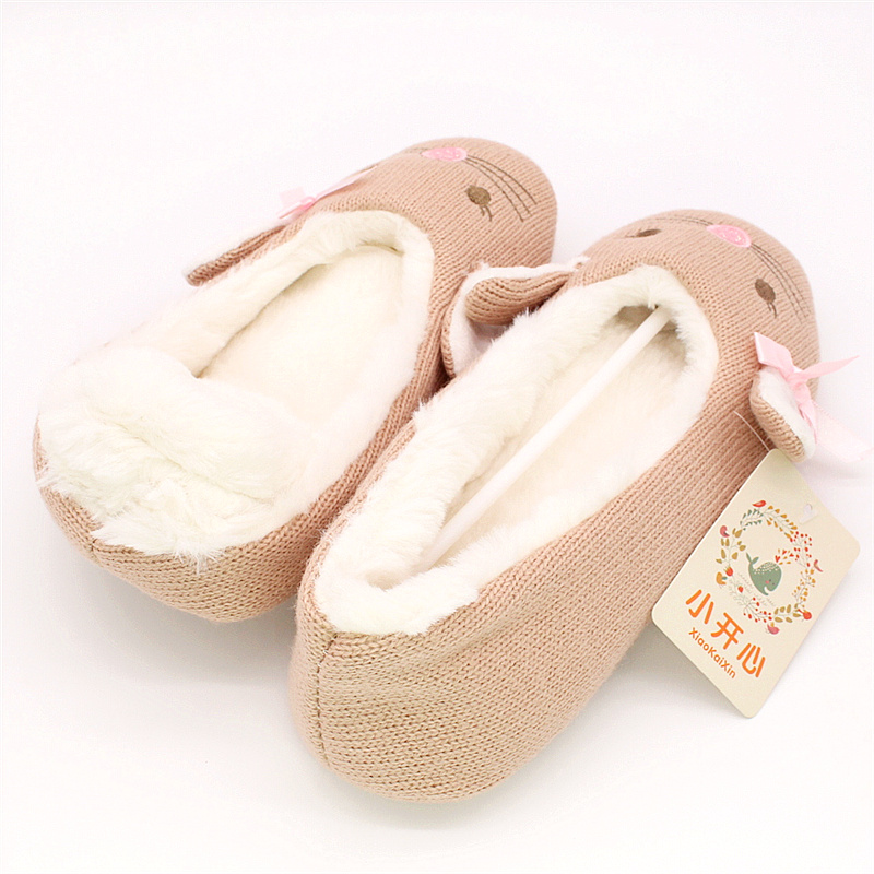Las Ballet Style House Slippers Winter Women Warm Soft Cotton
