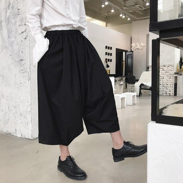super populaire c90e3 0d4b8 € 33.62 29% de réduction Mode masculine Harem jupe pantalon scène porter  Costumes hommes japon Style Kimono décontracté large jambe pantalon dans ...