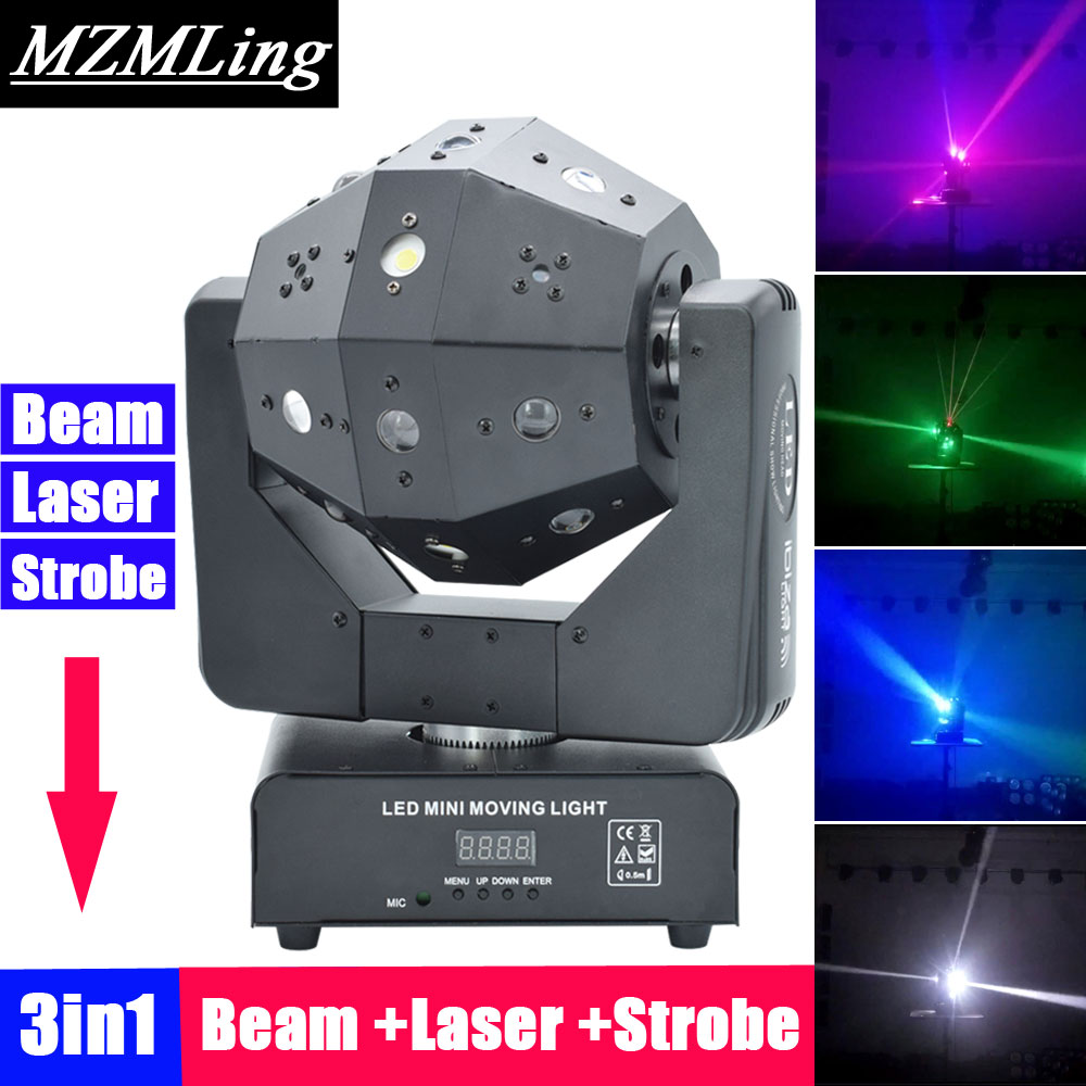 Stage Lighting Effect 3in1 Beam /laser/strobe Light 16x3w Moving Head Light Football Dmx512 Laser Light Dj /bar /party /show /stage Light Commercial Lighting