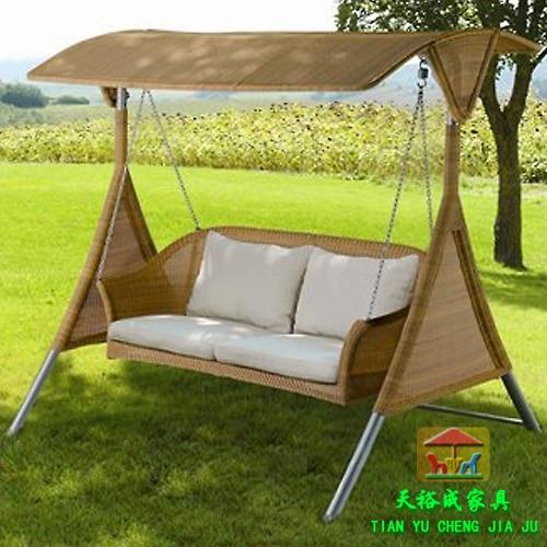 Outdoor furniture pe rattan swing outdoor hanging basket for Balcony hammock