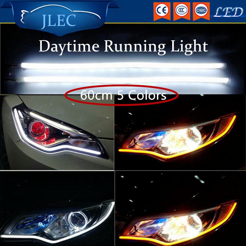 Car-Styling Universial 60cm 5 Colors LED Motorcycle Daytime Running Lights Waterproof LED Car Strip Lightbar DRL Source Fog Lamp босоножки inario босоножки